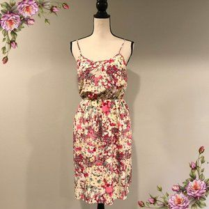 MAKE AN OFFER ;) Floral midi dress with straps.